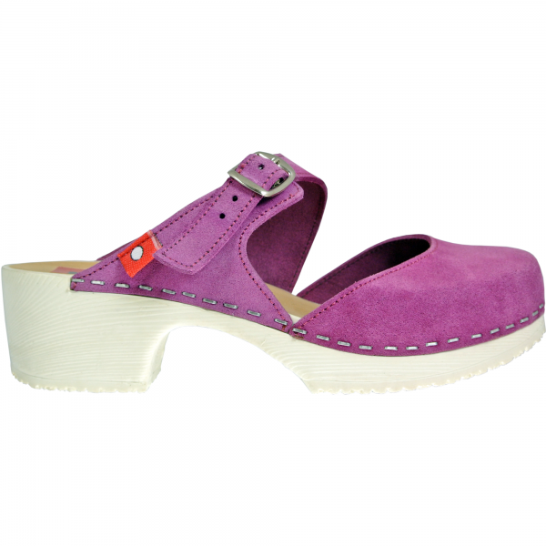 clog soft mary jane fuchsia