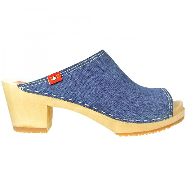 clog 6 1/2 peeptoe jeans