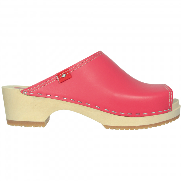 clog peeptoe hot pink