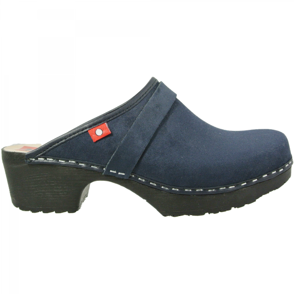 clog soft blau velours