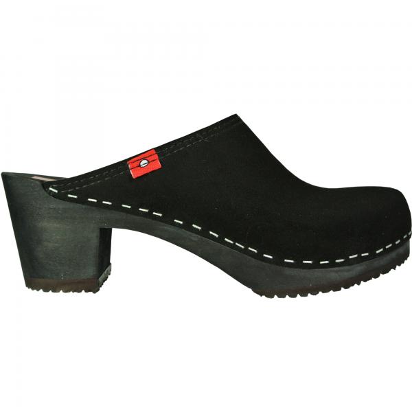 clog 6 1/2 black velvet