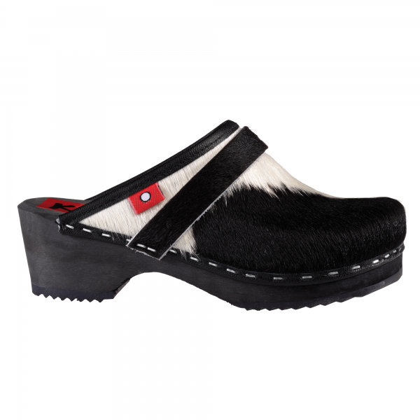 kids cowhide black/white